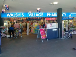 Chemist store front