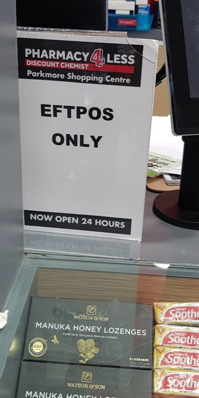 EFTPOS only