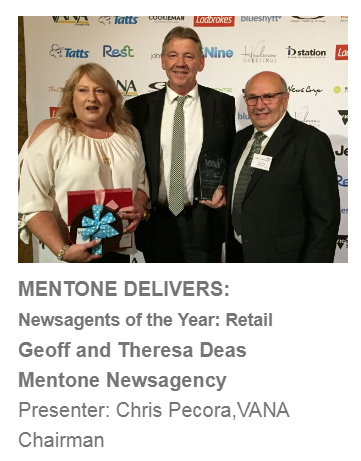 VANA Mentone newsagency award