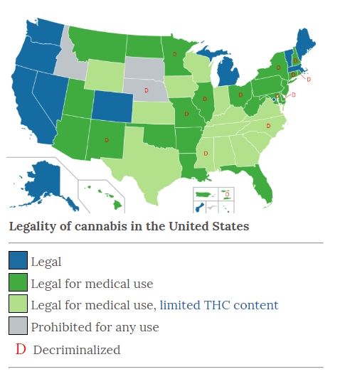 US state cannabis laws