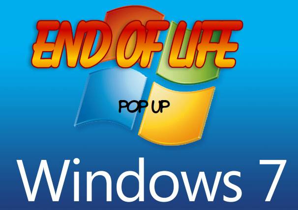 Windows 7 end of life popup