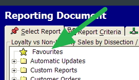 Point of Sale Software favourite reports